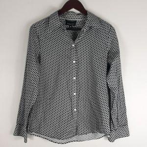 Foxcroft 100% Cotton Bow Tie Button Down Shirt
